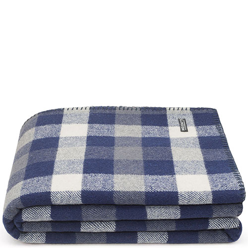 Купить Плед Woolkrafts Buffalo Plaid Navy в синюю клетку