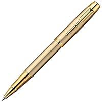 Фото – Ручка-роллер Parker IM Brushed Metal Gold GT 20 322G
