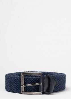 Плетеный ремень Harmont&Blaine синего цвета, фото