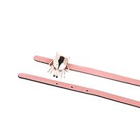 Розовый ремень Red Valentino с пряжкой в виде жука, фото