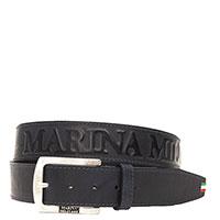 Синий ремень Marina Militare из гладкой кожи, фото