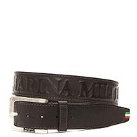 Ремень Marina Militare из кожи коричневого цвета, фото