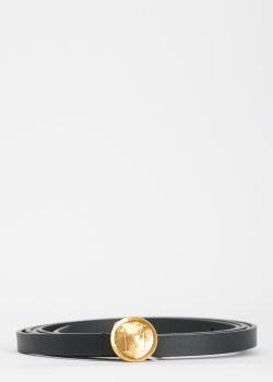 Черный ремень Miss Sixty с золотистой пряжкой, фото