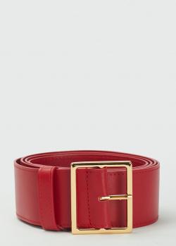 Красный ремень Max Mara из кожи, фото