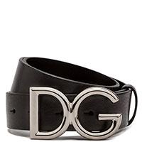 Мужской ремень Dolce&Gabbana черного цвета, фото