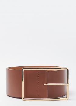 Широкий ремень Liviana Conti из коричневой кожи, фото