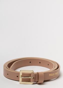 Кожаный ремень Max&Moi бежевого цвета, фото