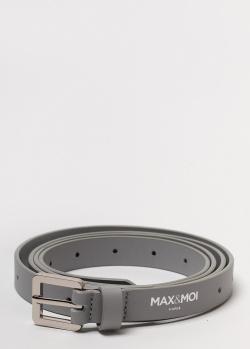 Серый ремень Max&Moi из гладкой кожи, фото
