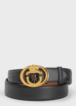 Ремень из кожи Billionaire с логотипом на пряжке, фото