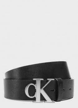 Черный ремень Calvin Klein с пряжкой-логотипом, фото