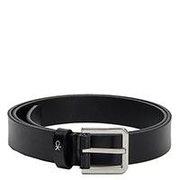 Черный ремень Calvin Klein с брендированной пряжкой, фото