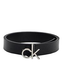 Ремень Calvin Klein из кожи черного цвета, фото