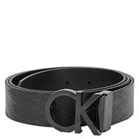 Черный ремень Calvin Klein с брендовой пряжкой, фото