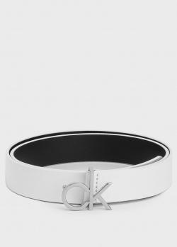 Белый ремень Calvin Klein из кожи, фото