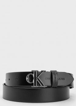 Кожаный ремень Calvin Klein с буквенной пряжкой, фото