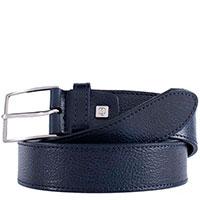 Ремень Piquadro Cintura из кожи синего цвета, фото