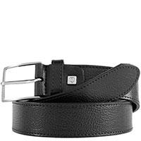 Черный мужской ремень Piquadro Cintura из кожи, фото