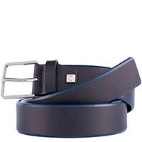 Мужской ремень Piquadro Cintura из кожи черного цвета, фото