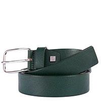 Ремень Piquadro Cintura из кожи зеленого цвета, фото