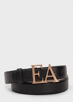 Ремень из кожи Emporio Armani с пряжкой в виде букв, фото