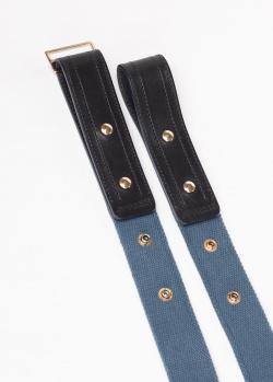 Синий ремень Gianfranco Ferre из кожи и хлопка, фото