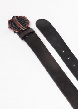 Черный ремень Gianfranco Ferre из кожи, фото