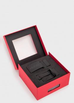 Черный ремень Hugo Boss Hugo со сменными пряжками, фото