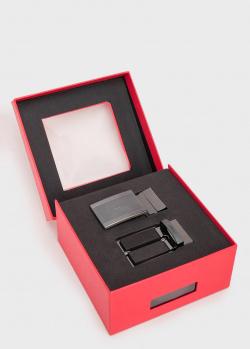 Ремень из кожи Hugo Boss Hugo с двумя пряжками, фото