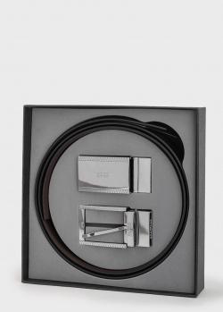 Мужской ремень Hugo Boss со сменными пряжками, фото