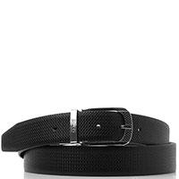 Черный ремень Hugo Boss со сменной пряжкой, фото