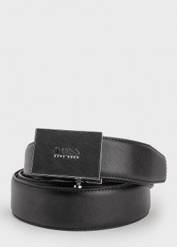Черный ремень Hugo Boss из сафьяновой кожи, фото