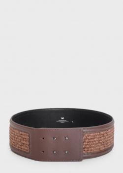Плетеный ремень Max Mara Salice коричневого цвета, фото