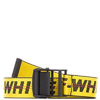 Желтый ремень Off-White с принтом, фото
