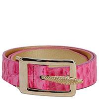 Розовый ремень Tosca Blu с золотой пряжкой, фото