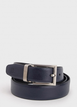 Синий ремень Trussardi из сафьяновой кожи, фото