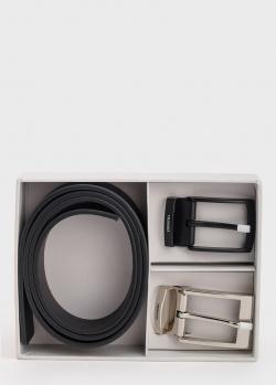 Мужской ремень Trussardi со сменными пряжками, фото