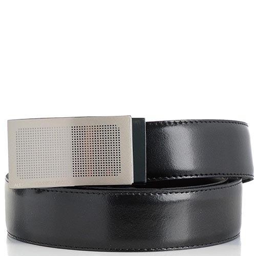 Мужской ремень Alessandro Dell Acqua черный с коричневым, фото