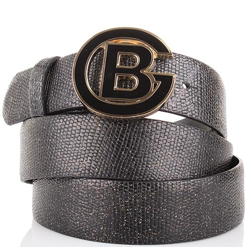 Ремень Baldinini черного цвета с золотистыми блестками, фото