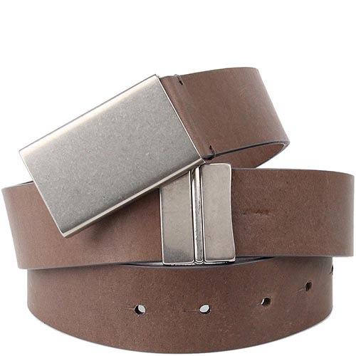 Ремень Maison Martin Margiela Paris серо-коричневого цвета с металлической пряжкой, фото