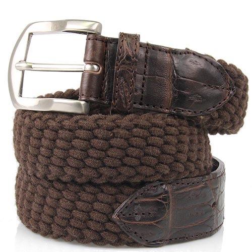 Плетеный ремень Andrea D Amico коричневый, фото
