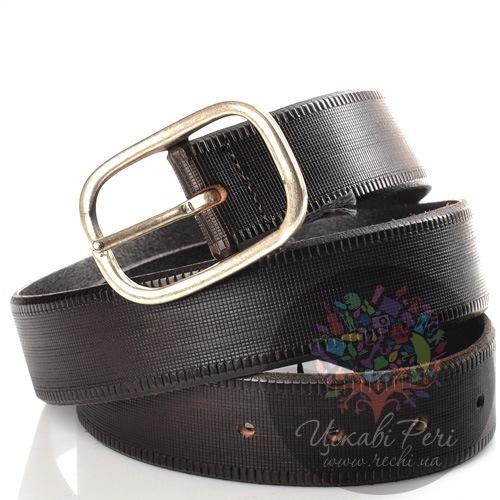 Ремень Andrea D Amico кожаный темно-коричневый , фото