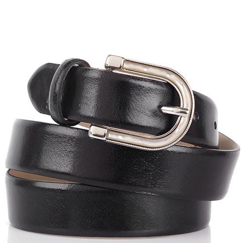 Ремень Cavalli Class черного цвета шириной 3 см с перламутровой вставкой на пряжке, фото