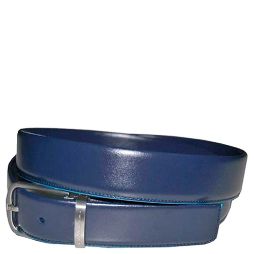 Ремень Piquadro Blue Square из кожи синего цвета, фото