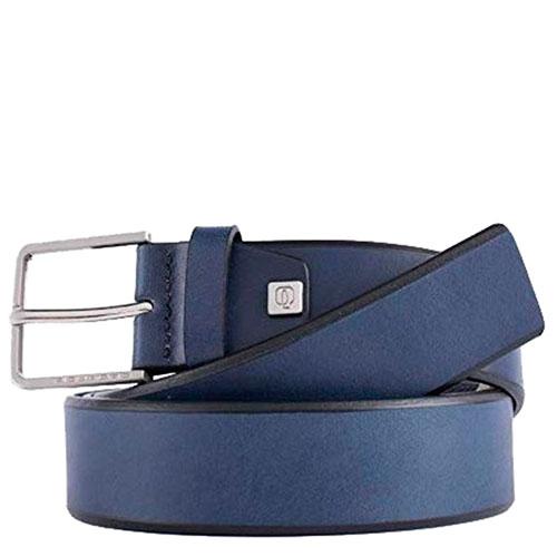 Ремень Piquadro Cintura из кожи синий, фото