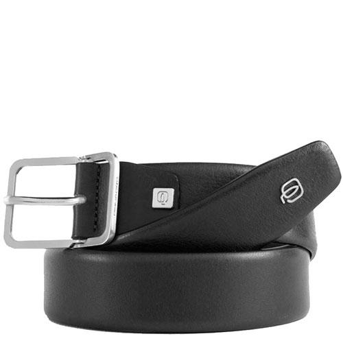 Ремень Piquadro Cintura из натуральной кожи черный, фото