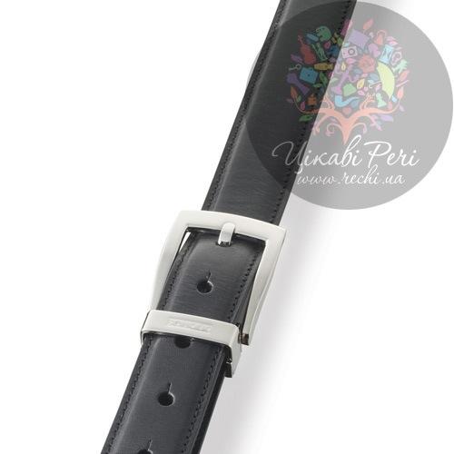 Ремень Dalvey Classic из черной кожи Fix, фото