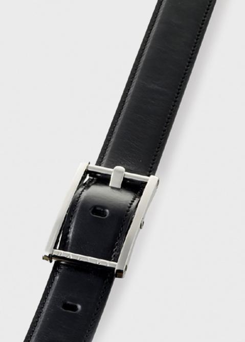 Ремень Dalvey Statesman из черной кожи Onix, фото