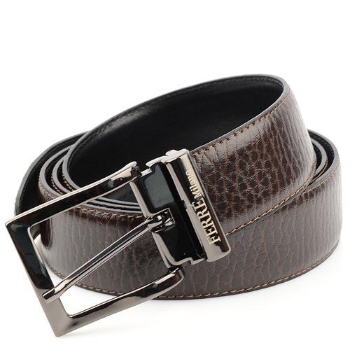 Ремень Ferre Milano коричневый с черной пряжкой, фото