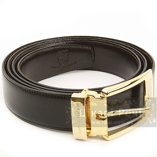 Ремень Black с позолоченной пряжкой, фото