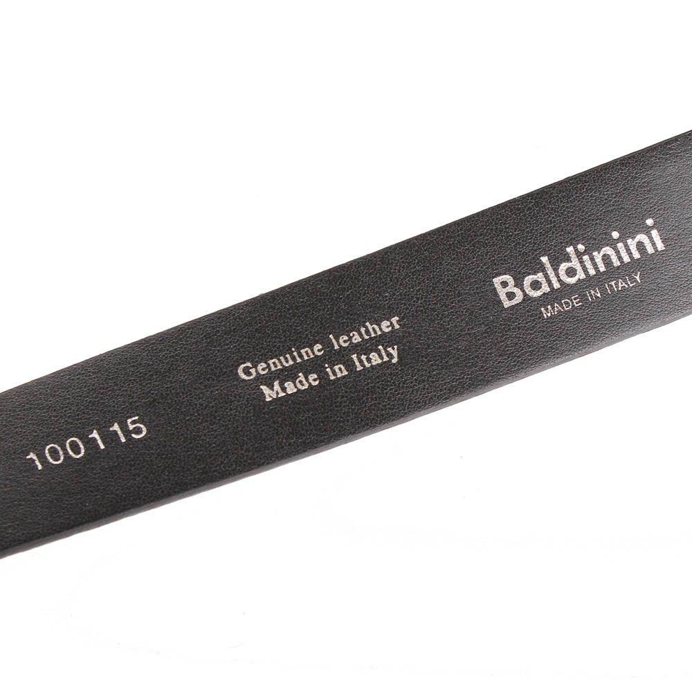 Ремень Baldinini черного цвета с золотистыми блестками
